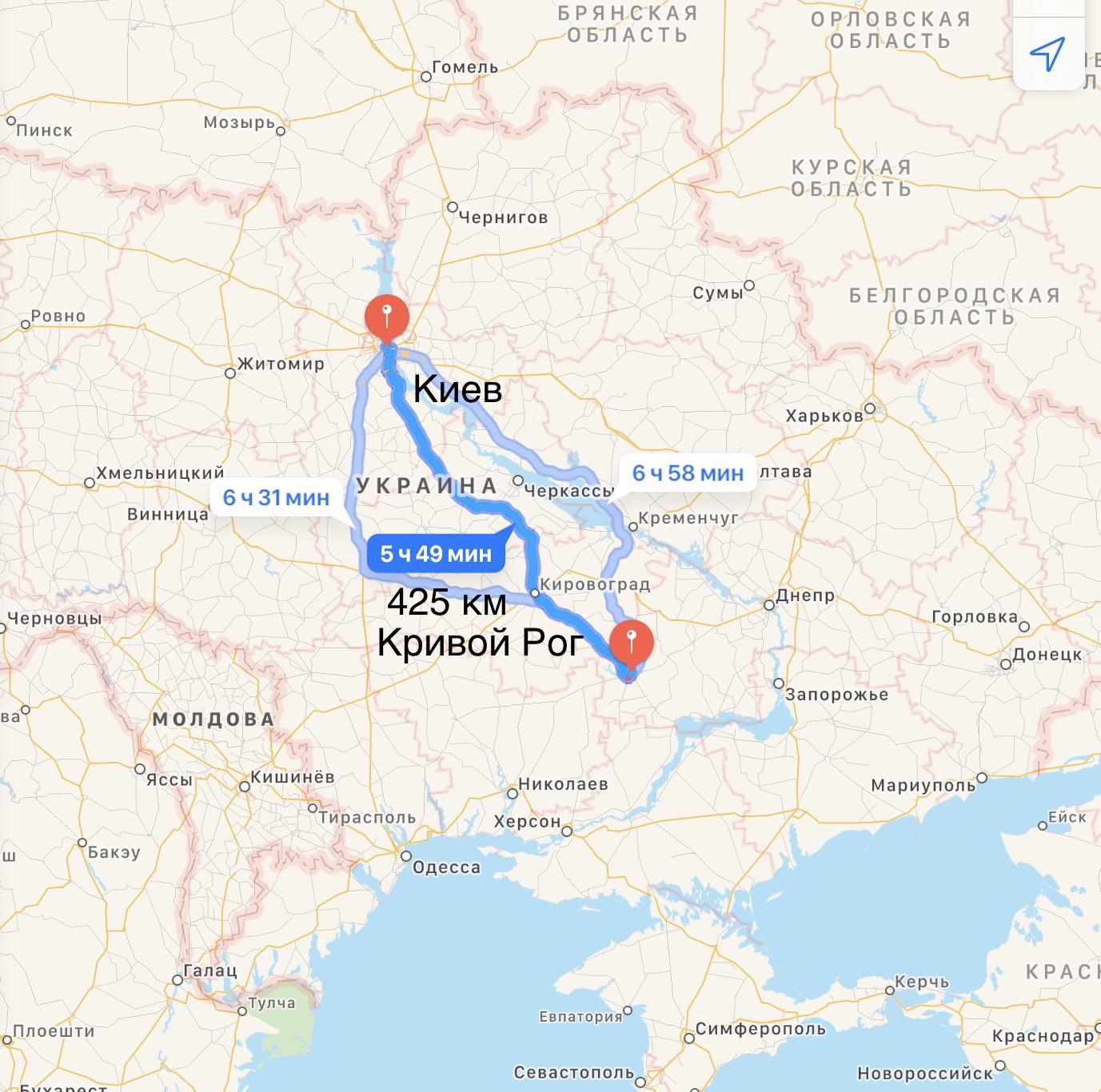Грузоперевозки Киев – Кривой Рог