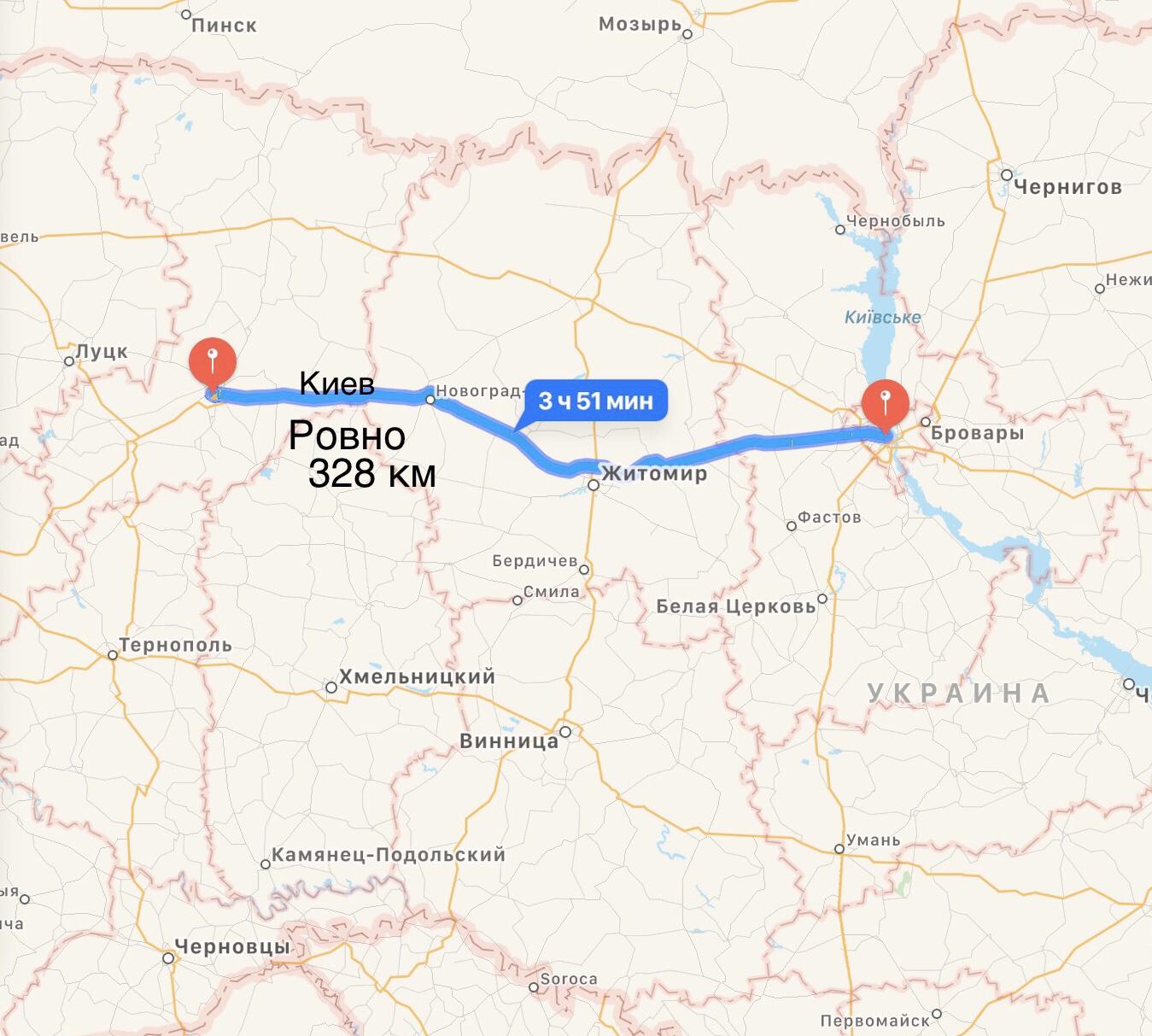 Грузоперевозки Киев – Ровно