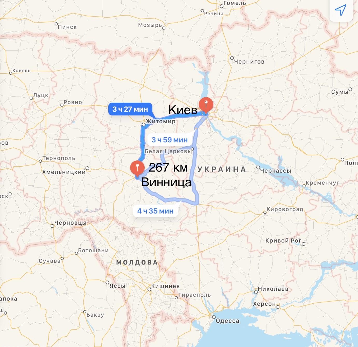 Грузоперевозки Киев – Винница